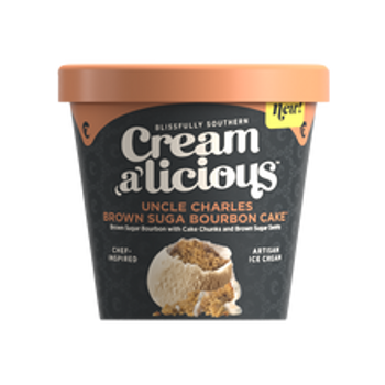 Creamalicious, Uncle Charles Brown Suga Bourbon Cake Ice Cream, Pint (1 Count)