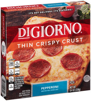 DiGiorno, Thin Crust Pepperoni Pizza, 8.4 oz (10 count)