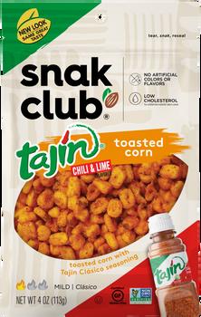 Snak Club, Tajin Classico Toasted Corn, 4 oz. (6 Count)