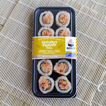 Moji Sushi, Coconut Shrimp Roll with Jalapeno, Red Bell Pepper & Sriracha Aioli, 6 oz. (4 Count)