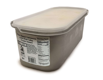 G.S Gelato, Plant Based Cashew Milk Cold Brew Coffee Frozen Dessert, 5 L. (1 Count)