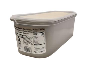 G.S Gelato, Plant Based Cashew Milk Himalayan Salted Caramel Frozen Dessert, 5 L. (1 Count)