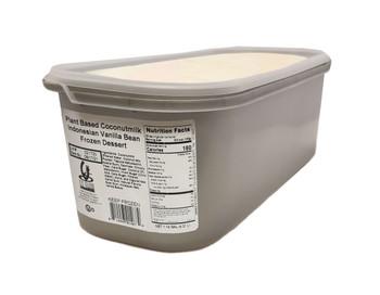 G.S Gelato, Plant Based Coconut Milk Indonesian Vanilla Bean Frozen Dessert, 5 L. (1 Count)