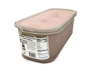 G.S Gelato, Plant Based Oatmilk Strawberry Almond Crisp Frozen Dessert, 5 L. (1 Count)