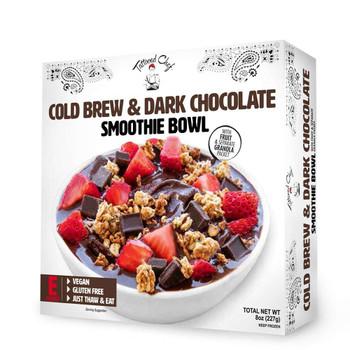 Tattooed Chef, Cold Brew Dark Chocolate Smoothie Bowl, 8 oz. (1 Count)