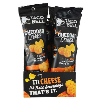 Taco Bell, Nacho Cheddar Crisps, .7 oz. (48 Count)