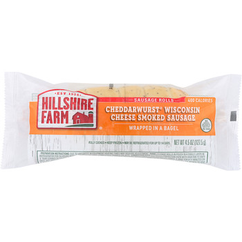 Hillshire Farm, Cheddarwurst Smoked Sausage Wrapped in a Bagel, 4.5 oz (24 count)