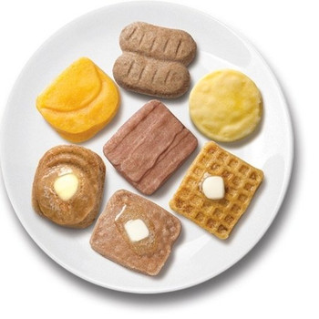 Cafe Puree, Breakfast Variety Pack (Bacon Strips, Sausage Links, and Scrambled Eggs) 3 oz. (24 Count)