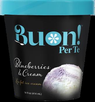 Buon! Per Te, Blueberries & Cream Ice Cream, Pint (1 Count)