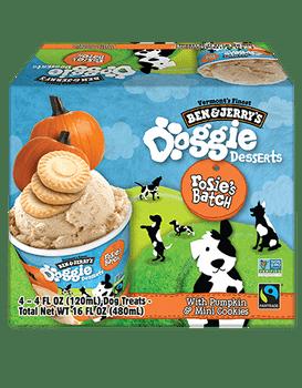 Ben & Jerry's, Rosie's Batch Pumpkin & Mini Cookies Doggie Desserts, 4 Oz (12 Count)
