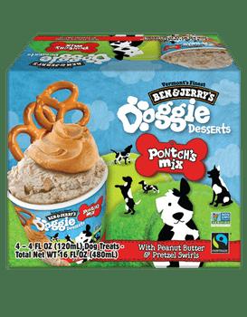 Ben & Jerry's, Pontch's Mix PB & Pretzel Swirl Doggie Desserts, 4 Oz (12 Count)