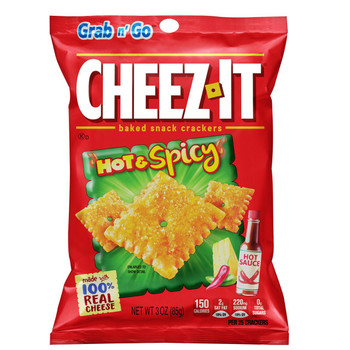 Cheez-It, Hot & Spicy Crackers, 3 oz. Bag (1 Count)