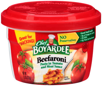 Chef Boyardee, Beefaroni, 7.5 oz. Microwavable Bowl (1 Count)