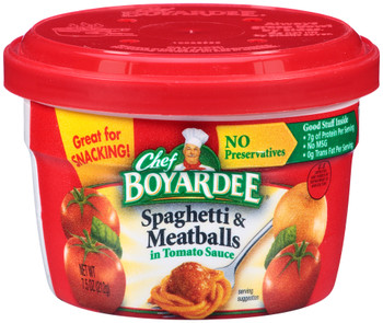 Chef Boyardee, Spaghetti & Meatballs, 7.5 oz. Microwavable Bowl (1 Count)