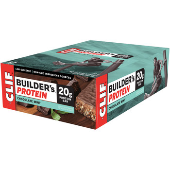 CLIF Builders, Protein Bar Chocolate Mint, 2.4 oz. Bars (12 Count)