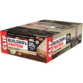 CLIF Builders, Protein Bar Vanilla Almond, 2.4 oz. Bars (12 Count)