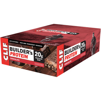 CLIF Builders, Protein Bars Chocolate, 2.4 oz. Bars (12 Count)