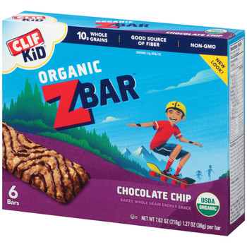 CLIF Kid Z-Bar, Organic Chocolate Chip, 1.27 oz. Bars (18 Count)