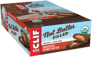 CLIF Nut Butter Filled, Chocolate Peanut Butter, 1.76 oz. Bar (12 Count)