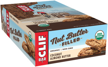 CLIF Nut Butter Filled, Coconut Almond Butter, 1.76 oz. Bar (12 Count)
