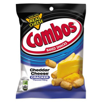 Combos, Cheddar Cheese Crackers, 6.3 oz. Bag (1 Count)