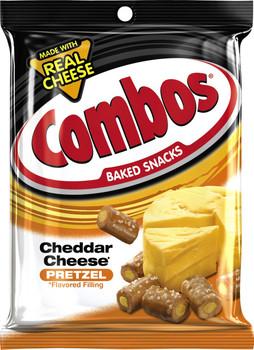 Combos, Cheddar Cheese Pretzel, 6.3 oz. Bag (1 Count)