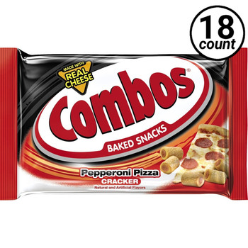 Combos, Pepperoni Pizza Cracker, 1.7 oz. Bags (18 Count)