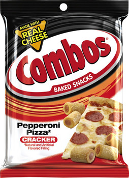 Combos, Pepperoni Pizza Cracker, 6.3 oz. Bag (1 Count)