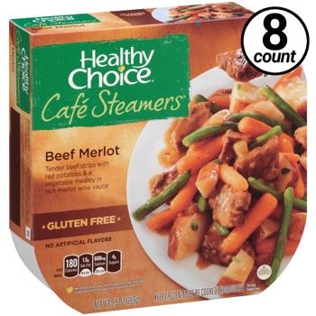 Conagra, Healthy Choice Cafe Steamers, Roasted Beef Merlot, 9.5 oz. Microwavable Entree (8 Count)