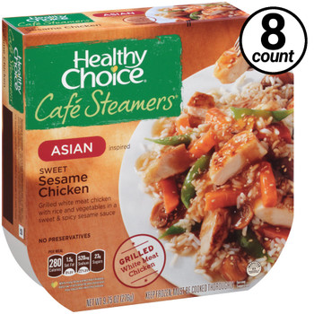 Conagra, Healthy Choice Cafe Steamers, Sweet Sesame Chicken, 9.75 oz. Microwavable Entree (8 Count)