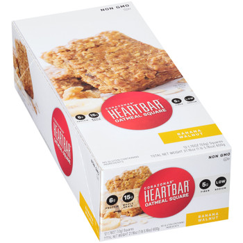 Corazonas, Oatmeal Square, Banana Walnut, 1.76 oz. bar (12 Count)