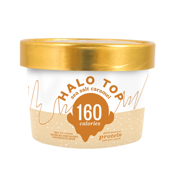 Halo Top - Sea Salt Caramel, 8 oz Half-Pints (16 Count)