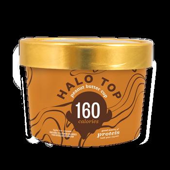 Halo top - Peanut Butter Cup,  8 oz Half-Pints (16 Count)
