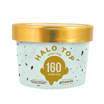 Halo Top - Mint Chip, 8 oz Half-Pints (16 Count)