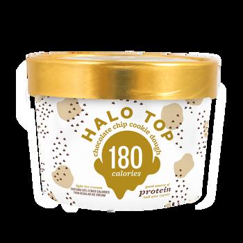 Halo Top - Chocolate Chip Cookie Dough,   8 oz Half-Pints (16 Count)
