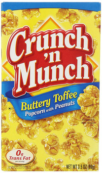 Crunch'n Munch, Buttery Toffee Popcorn with Peanuts, 3.5 oz. Box (1 Count)