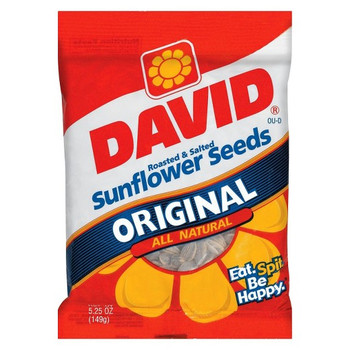 David's Sunflower Seeds, Original, Roasted and Salted, 5.25 oz. Bag (1 Count)