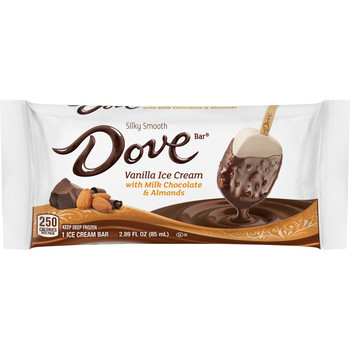 Dove, Almonds with Milk Chocolate and Vanilla Ice Cream Bar (12 Count)