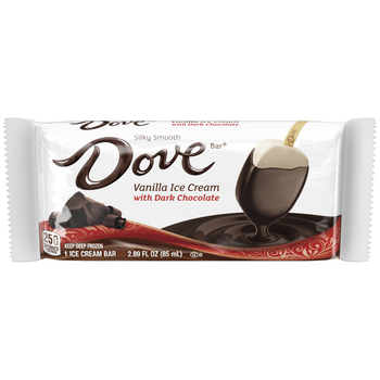 Dove, Dark Chocolate with Vanilla Ice Cream Bar (12 Count)