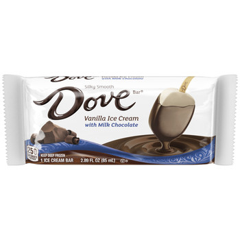 Dove, Milk Chocolate with Vanilla Ice Cream Bar (12 Count)