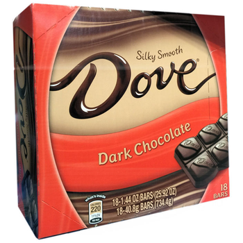 Dove, Silky Smooth Dark Chocolate, 1.44 oz. (18 Count)
