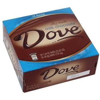 Dove, Silky Smooth Milk Chocolate, 1.44 oz. (18 Count)