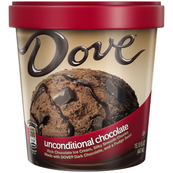 Dove, Unconditional Chocolate Ice Cream, Pint (1 Count)