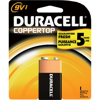 "Duracell, Coppertop, ""9-volt"" cell"