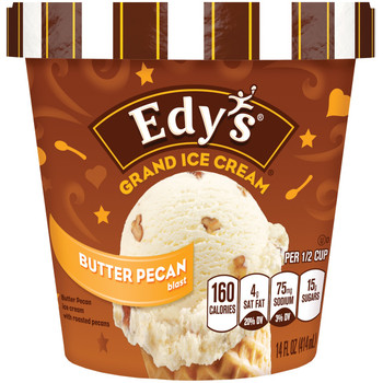 Edy's Grand, Butter Pecan Blasts, Ice Cream, Pint (1 Count)