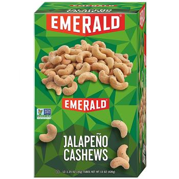 Emerald Nuts, Cashew Jalapeno, 1.25 oz. Bag (12 Count)