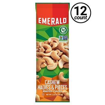 Emerald Nuts, Cashews Halves & Pieces, 1.25 oz. Bag (12 Count)