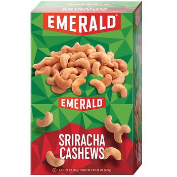 Emerald Nuts, Cashews Siracha, 1.25 oz. Bag (12 Count)