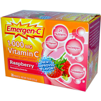 Emergen C, Raspberry, 1,000 mg Vitamin C, 0.3 oz. (30 Count)