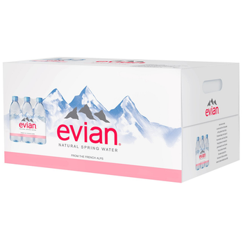 Evian Natural Spring Water, 1 Liter PET (24 Count Case)